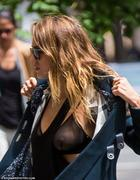  Jessica Alba - showing her see-thru bra while out and about in NY 05/06/13