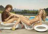 Heidi Klum in Bikini with Will Ferrell In S.I Swimsuit 08 Pictures