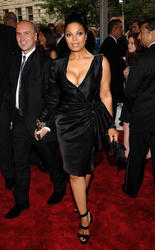 Janet Jackson @ 2010 Costume Institute Gala Showing Big Cleavage in NYC 5/3/1
