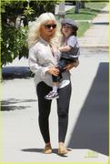 Christina Aguilera - Nice Cleavage - Tight Pants -  Going To The Dentist - May 27 2011 - (x11)